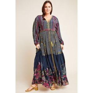 Anthropologie Bhanuni Tatiana Tiered Maxi Dress
